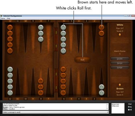 Slik spiller Internet Backgammon i Windows 7