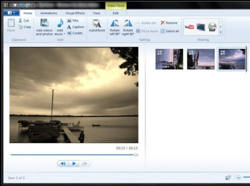 Hvordan legge til visuelle effekter til en video med Windows Live Movie Maker