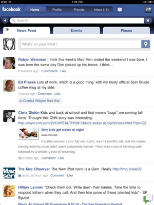 iPad Apps for Facebook