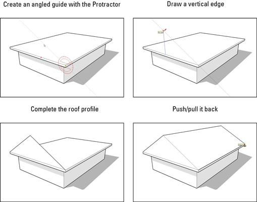 how to make a sloped surface in sketchup