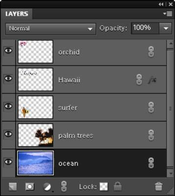 Bli kjent med Layers i Photoshop Elements 9