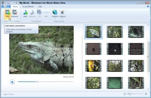 Windows Live Movie Maker: Lag, redigere og vise filmer