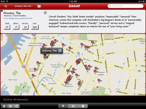 Finn restauranter med ZAGAT TO GO iPad App
