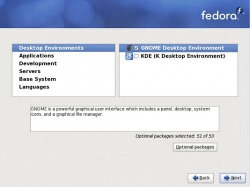 Network Administration: Installere Fedora 7